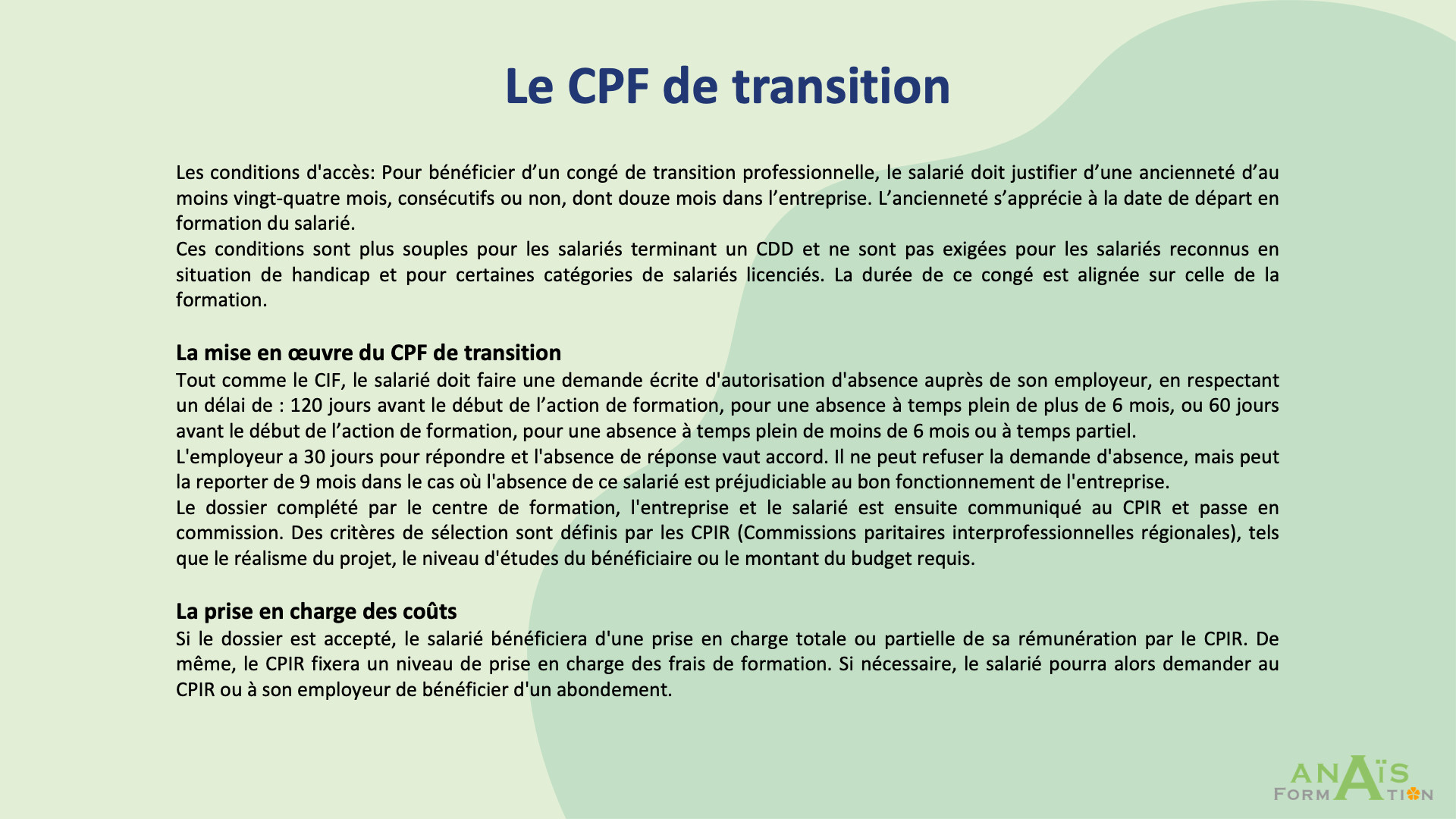 "Page : ""Le CPF de transition"""